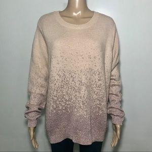 H&M Sweater w/ Mauve Metallic Detail Size XL NWOT